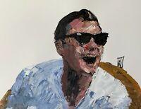 Original Abstract Leonardo Dicaprio Wolf of Wall Street Meme Wall Art Painting