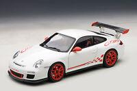 1/18 AUTOART PORSCHE 911 (997) Gt3 Rs 3.8 (bianco / rosso stripes) 2010