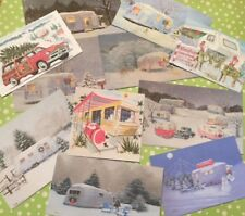 Christmas Die Cuts-Gift Tags~Glamping-Vintage Campers-Shasta trailer-11 piece-