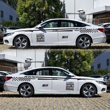 Universal Black Racing Stripe Full Body Sticker Decal Car Decoration Accessories