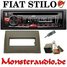 JVC Autoradio FIAT Stilo Bj. 2001-2007 CD MP3 USB Radio + Adapter & Blende
