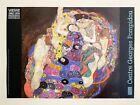 """GUSTAV KLIMT RARE 1986 LITHOGRAPH PRINT PARIS EXHIBITION POSTER """"LA VIERGE"""" 1913"""