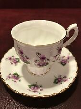 BEAUTIFUL  CROWN STAFFORDSHIRE TEA CUP AND SAUCER SET ENGLAND