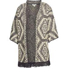 Fat Face-Damen-Hartland Azteken Kimono-schwarz-Größe M-Bnwt