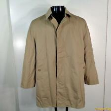 MISTY HARBOR Vtg 3/4 Long RAINCOAT Rain Trench Coat Mens Size S 38 khaki