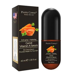 Pretty Cowry 40ml Carrot Vitamin A Face Serum Bio Anti-aging Hydrating UK