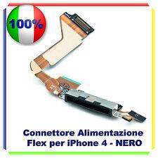 FLAT CONNETTORE DI RICARICA PER IPHONE 4 NERO MICROFONO CONNETTORE DOCK