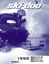 Ski-Doo parts manual catalog book 1999 MACH Z LT R & 1999 MACH Z M.H. R
