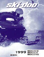 Ski-Doo parts manual catalog book 1999 MACH Z, 1999 MACH Z R & 1999 MACH Z LT