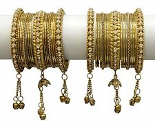 Indian Bangles Bollywood Designer Jewelry Ethnic Bridal Gold Plated Bracelet Set
