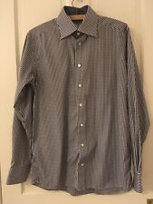 Eton Of Sweden Contemporary Fit Gingham Shirt Size 40 / 15 3/4 Spread Collar