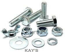 SELECT M12 FULLY THREADED BOLTS,NUTS OR WASHERS HIGH TENSILE ZINC PLATED SCREWS