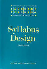 Syllabus Design (Language Teaching, a Scheme for Teacher Education)-ExLibrary