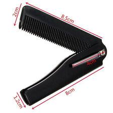 CA Men Women Beauty Folding Pocket Clip Hair Moustache Beard Comb