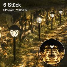 6 LED Solarlampe Solarleuchte Gartenlicht Außen-Beleuchtung Schattenlaterne Neu