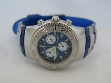 Awesome Man's Aquaswiss Chronograph Sport Wristwatch with a Blue Band