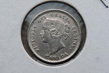 1896 Canada silver five 5 cents - EF-40