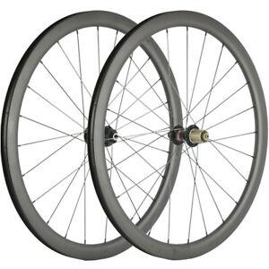 Cyclocross Bike Wheels Tubeless/Clincher/Tubular Carbon Wheelset 40mm Disc Brake