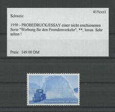 SWITZERLAND SPECIMEN 1950 ESSAY TRIAL TEST PRINT PROOF SNOWBLOWER h4288