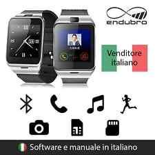 endubro SMARTWATCH GV18 BLUETOOTH E NFC PER ANDROID E IOS - NERO/ARGENTO