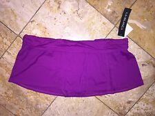NWT La Blanca Plum Purple Skirted Swim Skirt Skort Bottoms Swimsuit Women's 16