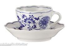 6x Hutschenreuther Blau Zwiebelmuster Kaffee Tasse und Kaffee Untertasse 2tlg.