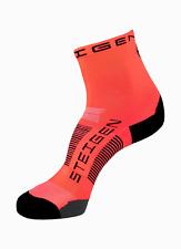 Steigen Fluro Red Half Length Performance Running and Cycling Socks