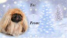 Pekingese Christmas Labels by Starprint