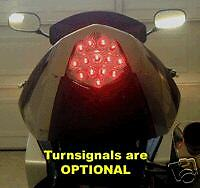 GSXR1000 k3 k4 Integrated Clear LED tail light with built in LED indicators