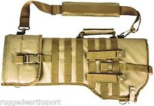 NEW MOLLE Shoulder Sling Tactical Rifle Scabbard Case * TAN BROWN * NCStar