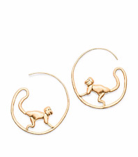 tory burch MONKEY HOOP EARRING