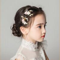Flower Leaf Hairpin Hair Clip Barrette Pin Gift Jewelry Girl Children Bride v