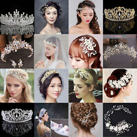 Bridal Wedding Rhinestone Crystal Faux Pearl Flower Hair Clip Comb Hair Band