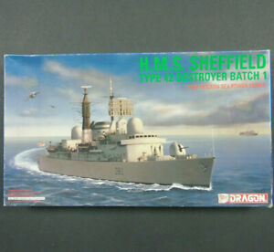 7016-03 Dragon H.M.S Sheffield Type 42 Destroyer Batch 1 1:700 Scale Model Kit