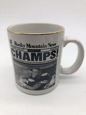 University of Colorado Buffaloes 1990 National Champs coffee mug NEW CU Buffs