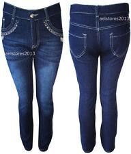 Vêtements bleus slim/moulante pour fille de 2 à 16 ans en 100% coton