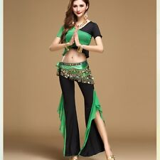 Belly Dance&Yoga practice clothing Costume Siamese blouse with Pants 3 pcs set