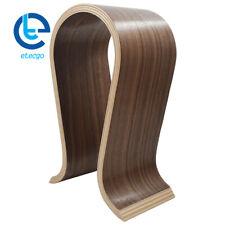 US Shape Wood Headphone Earphone Stand Hanger Holder Desk Display Shelf Rack New