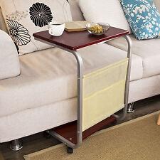 SoBuy®Mesa auxiliar con ruedas,Mesa de Centro,mesa cama para PC, FBT21-BR,ES