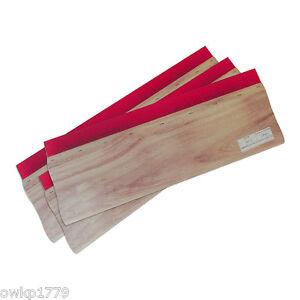 """3PCS 13"""" (33cm) Squeegees Screen Printing Ink Scraper Wood Handle 75 Durometer"""