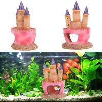Aquarium Polyresin Castle Tower Cave Ornament Fish Tank Decoration Accessories