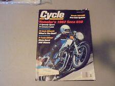 NOVEMBER 1981 CYCLE MAGAZINE,HONDA XR250R,YAMAHA 650 SECA,MOTO GUZZI 500 MONZA