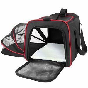 NEW Frontpet Soft Sided Expandable Pet Carrier Padded Fleece, Airline Approved