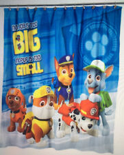 Nickelodeon Paw Patrol Fabric Shower Curtain with 12 Matching hooks NEW