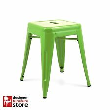 Replica Xavier Pauchard Tolix Stackable Metal Stool (45cm) - Green