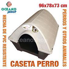 CASETA CASA PERROS EXTERIOR MARRON Y BEIS PVC RESISTENTE 96x78x73 cm L527 7027