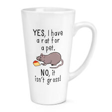 Oui I Ont Une Rat Pour Animal Non It Isn't Grand 483ml Grand Latte Tasse - Drôle