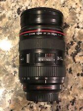 Canon EF 24-70mm f/2.8 L USM Lens w/ Canon Lens Hood EW-83F