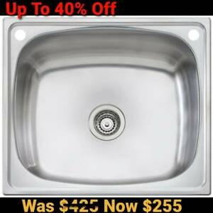 Oliveri Laundry Tub 70L Kitchen Stainless Steel Bowl Sink bypass kit TI70