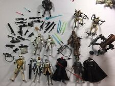 Star Wars Hasbro 13 Figures Plus Weapons Lot